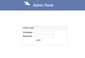 Admin Panel Login