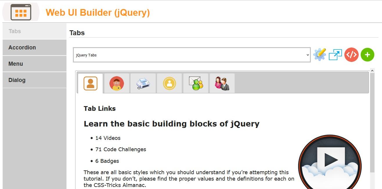 Web UI Builder (jQuery) - Scriptburn com